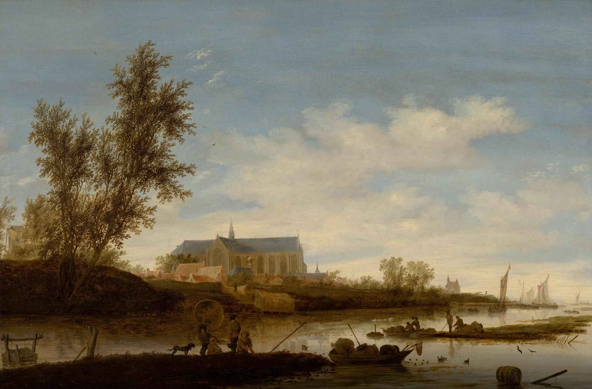 5ffbae6d8aa Afb. 1 - Salomon van Ruysdael, 1644. Gezicht op de Grote of  Sint-Laurenskerk in Alkmaar vanuit het noorden, paneel, 62 x 93 cm,  Stedelijk Museum Alkmaar.