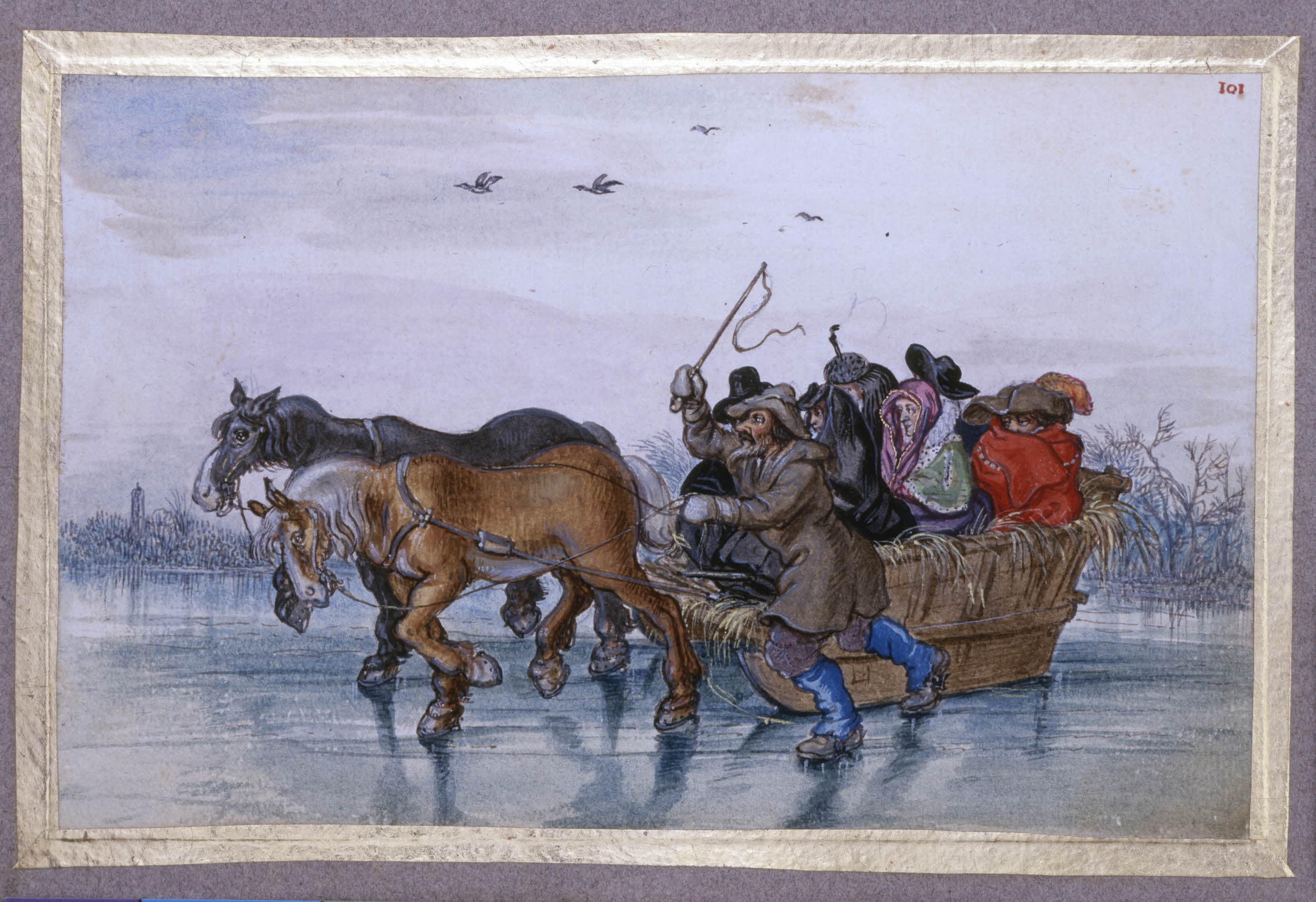 Schaatshistorie Nl Tekeningen En Aquarellen 1600 1700 Van