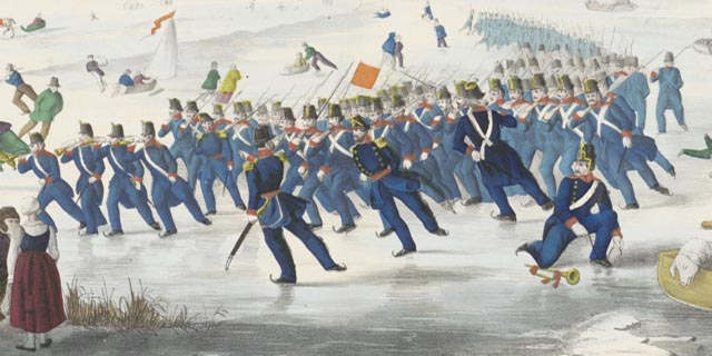 Soldiers on skates